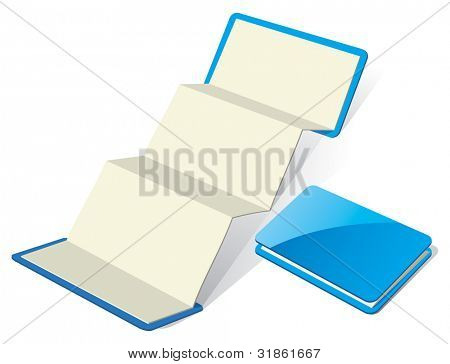 Blank Z-Card template. Rasterized version