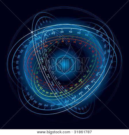 Fantasy Space Navigation Sphere. Rasterized version
