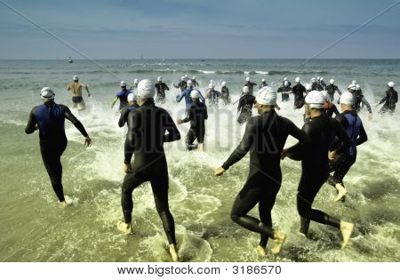 Triathleten-Gruppe