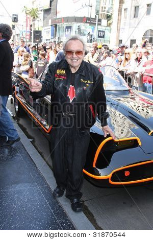 LOS ANGELES - APR 5:  George Barris, Batmobile at the Adam West Hollywood Walk of Fame Star Ceremony at Hollywood Blvd. on April 5, 2012 in Los Angeles, CA