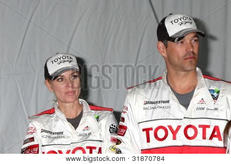 LOS ANGELES - APR 3:  Eileen Davidson, Eddie Cibrian at the 2012 Toyota Pro/Celeb Race Press Day at Toyota Long Beach Grand Prix Track on April 3, 2012 in Long Beach, CA