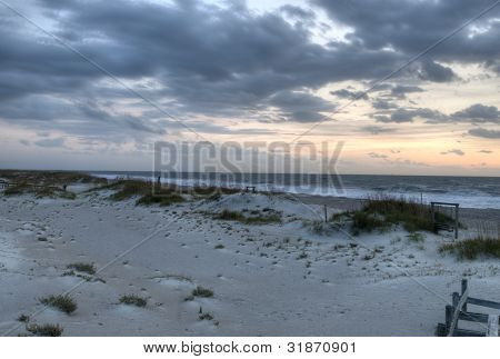 Tybee Beach at Sunrise