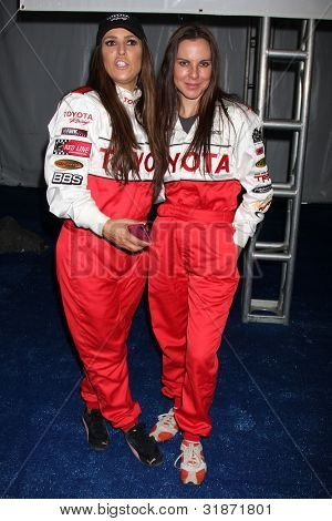 LOS ANGELES - APR 3:  Jillian Barberie Reynolds, Kate del Castillo at the 2012 Toyota Pro/Celeb Race Press Day at Toyota Long Beach Grand Prix Track on April 3, 2012 in Long Beach, CA