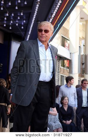 LOS ANGELES - APR 5:  Adam West at the Adam West Hollywood Walk of Fame Star Ceremony at Hollywood Blvd. on April 5, 2012 in Los Angeles, CA