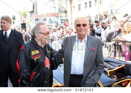LOS ANGELES - APR 5:  George Barris, Adam West, Batmobile at the Adam West Hollywood Walk of Fame Star Ceremony at Hollywood Blvd. on April 5, 2012 in Los Angeles, CA