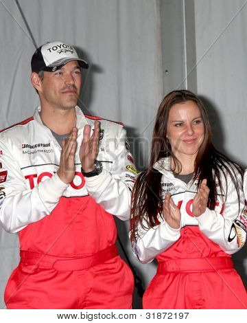 LOS ANGELES - APR 3:  Eddie Cibrian, Kate del Castillo at the 2012 Toyota Pro/Celeb Race Press Day at Toyota Long Beach Grand Prix Track on April 3, 2012 in Long Beach, CA