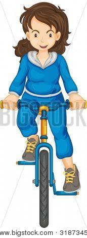 Lady, andar de bicicleta