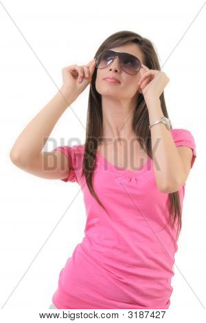 Attractive Female With Sunglasses