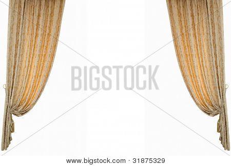 Theater Vorhang.Isoliert auf weiss