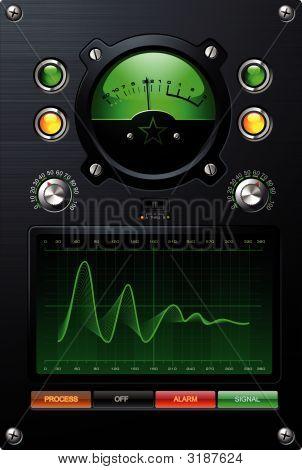 Medidor de volumen verde