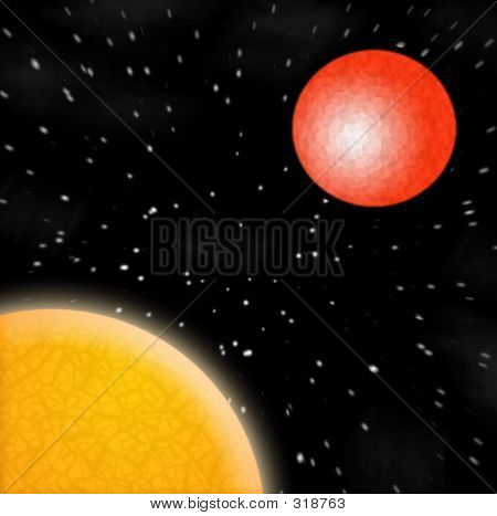 El sol Marte estrellas planetas