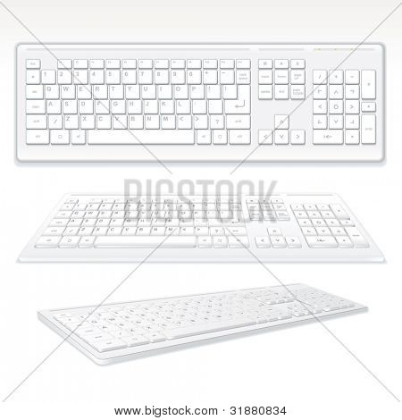 Modern Computer Keyboards, vector illustration