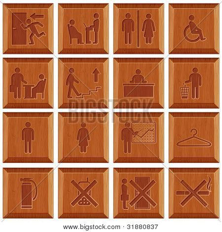 Wooden Door Signs for Workplaces
