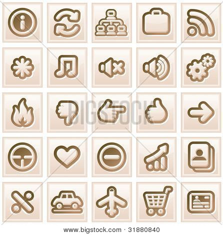 Retro Stylized Interface Icons. Vector Collection #2