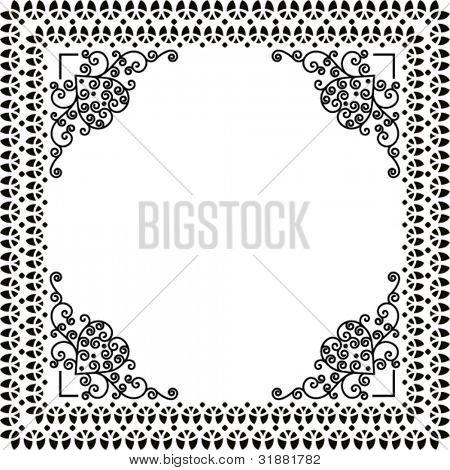 decorative bookplate frame