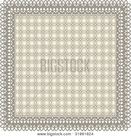 Pretty hankie frame - lacy center (use together or separate)