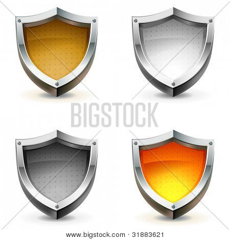 Defensa escudo vector icons