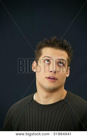Dumb looking man