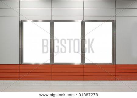 Cartelera para el uso de publicidad en un moderno edificio
