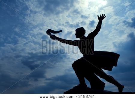 Statue Of Torch-Bearer On Gellert Hill, Budapest