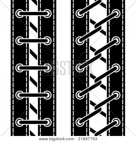 vector shoe lace seamless symbols