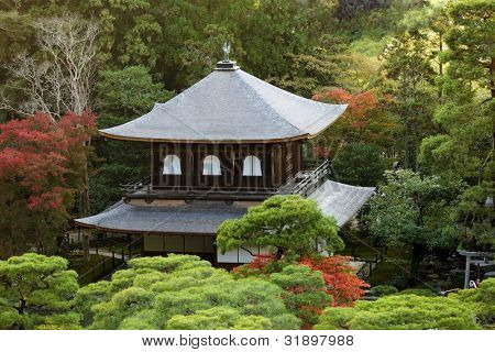 Ginkakuji silver japanese temple in kyoto province, Japan