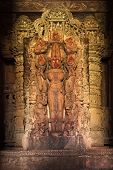 stock photo of lakshmi  - Lakshmi Hindu Goddess Image statue in Devi Jagadamba Temple - JPG