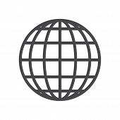 World Grid Icon Isolated On White Background. World Grid Icon In Trendy Design Style For Web Site An poster