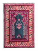 stock photo of tabriz  - Arabian silk carpet on white backgroun - JPG