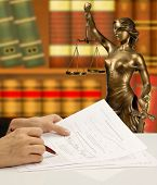 stock photo of metal sculpture  - lawyer - JPG