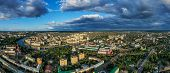 Aerial Panoramic View Of Historic Center Of Oryol Or Orel City, Russia With Bridge, Oka River, Histo poster