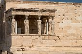 Caryatids In Erechtheum From Athenian Acropolis,greece Temple poster