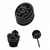 Vector Illustration Of Sweetness And Product Sign. Set Of Sweetness And Sweet Stock Vector Illustrat poster
