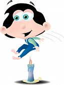 image of nursery rhyme  - Jack be nimble and be quick he jumps over the candle stick - JPG