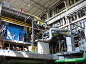 image of electrical engineering  - Electric power generator at a power plant - JPG