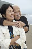 pic of early 60s  - Mature Couple at Beach - JPG