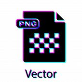 Black Png File Document. Download Png Button Icon Isolated On White Background. Png File Symbol. Vec poster