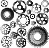stock photo of gear wheels  - set of gear wheels  - JPG