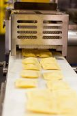 COLOGNE, GERMANY - MARCH 27 : New RS120G ravioli machine on display at the Goetz booth at the ANUGA
