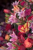 foto of flower arrangement  - arrangement at philadelphia flower show - JPG