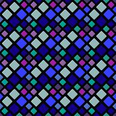 Abstract Multicolor Seamless Geometrical Square Pattern Background Design - Multicolored Vector Grap poster