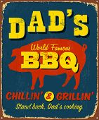 picture of bbq food  - Vintage metal sign  - JPG