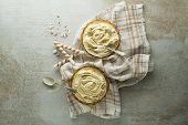 Homemade Organic Vanilla Soft Ice Cream. Vanilla Frozen Yogurt Or Soft Ice Cream In Bowl poster