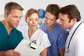 stock photo of ward  - American medical team working on hospital ward - JPG