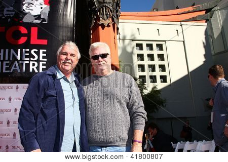 LOS ANGELES - FEB 4:  John Chuck,  ELS; Ralph Pipes, President of SEM at the Robert DeNiro Handprint & Footprint Ceremony  at the TCL Chinese Theater forcourt on February 4, 2013 in Los Angeles, CA
