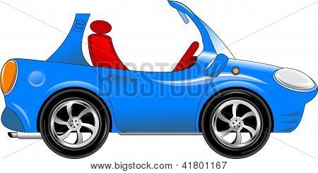 Small Blue Car