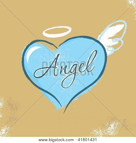 Vintage Christian design - Angel