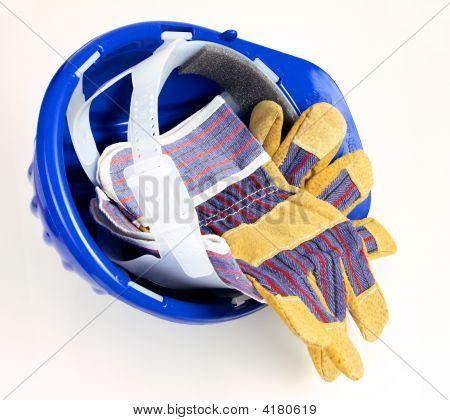 Helmet And Gloves Background