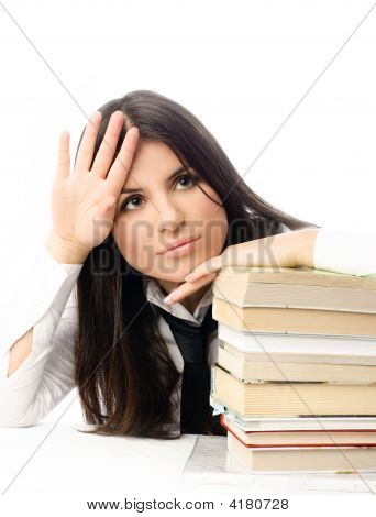 Unhappy Student Tired Of Doing Homewrok