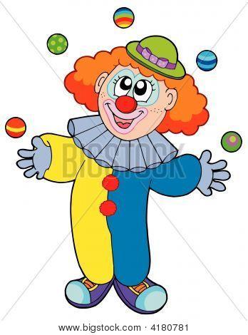 Juggling Cartoon Clown